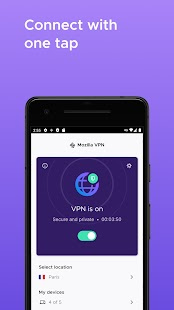 Mozilla VPN - A secure, private and fast VPN Screenshot
