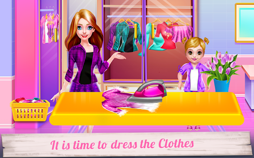 mommy and little baby laundry day screenshot 1