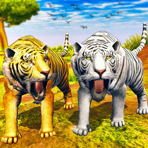 virtuale tigre famiglia simulatore: selvaggio tigr