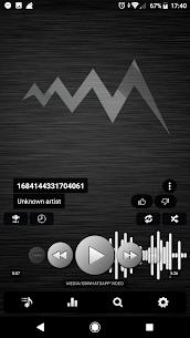 Poweramp v3 skin simple dark MOD Apk 1.0.7 (Unlocked) 1