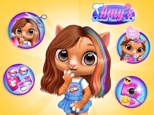 Amy's Animal Hair Salon - Cat Fashion & Hairstyles android2mod screenshots 10