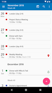 aCalendar - a calendar app for Android Screenshot