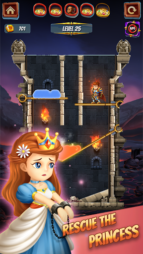 Save the Princess - Pin Pull & Rescue Game android2mod screenshots 6