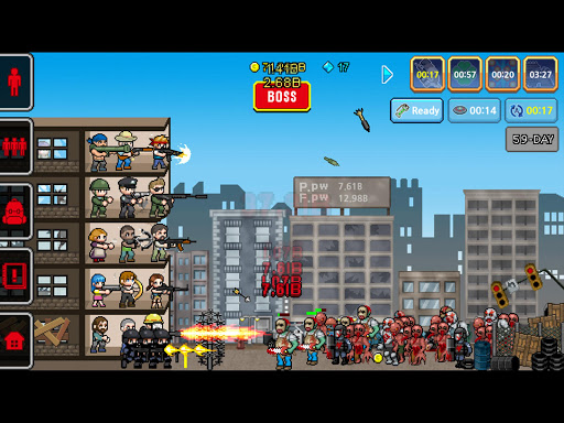 Code Triche 100 DAYS - Zombie Survival APK MOD (Astuce) screenshots 5