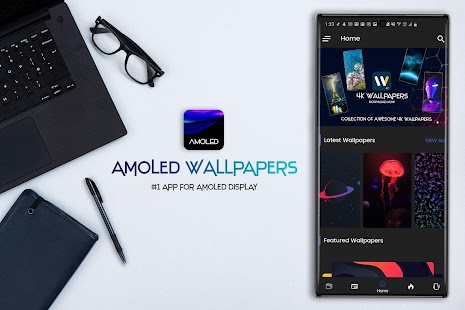 AMOLED Wallpapers 4K - Auto Wallpaper Changer Screenshot