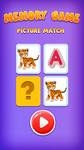 Picture Match, Memory Games for Kids - Brain Game screenshots 1