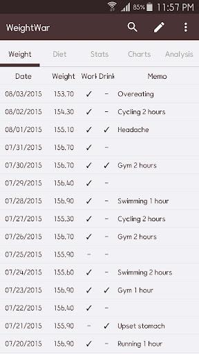 WeightWar screenshot 1