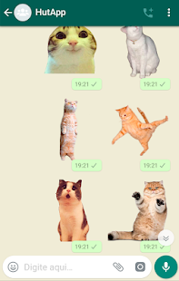Best Cat Stickers for Chat WAStickerApps Screenshot