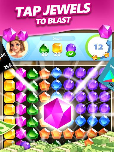 Jewel Blast & Diamond Crush Puzzle Game to BIG WIN android2mod screenshots 12