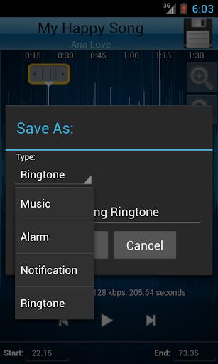 MP3 Cutter and Ringtone Makeru266b 2.5 Screenshots 4