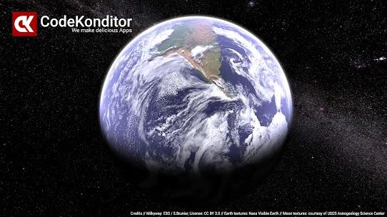 Earth & Moon in HD Gyro 3D PRO Parallax Wallpaper 1