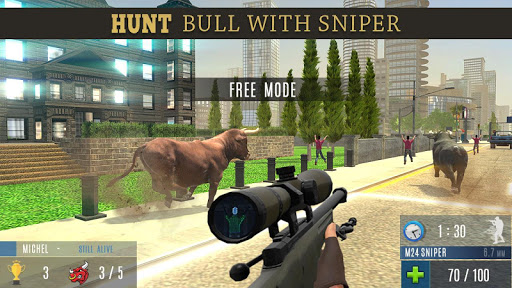 Angry Bull Attack Shooting  screenshots 4
