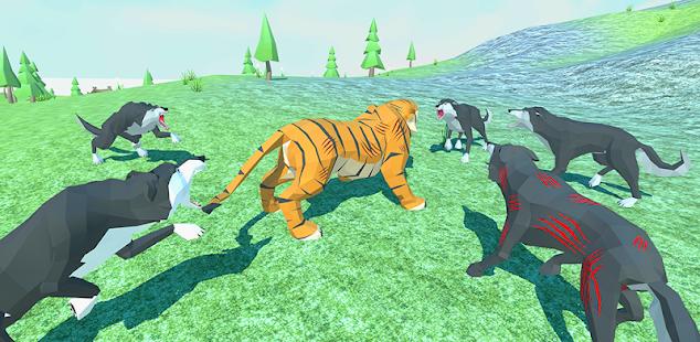 🐺 wolf vs 🐯 tiger simulator: wild family animals hack