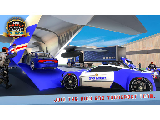 US Police Muscle Car Cargo Plane Flight Simulator 4.7 screenshots 9