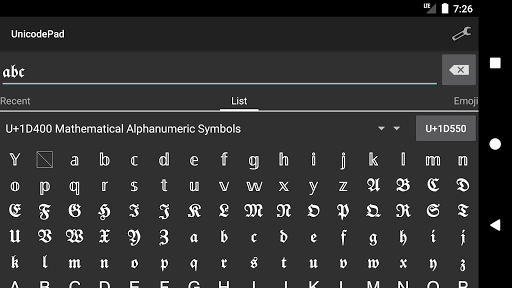 Unicode Pad android2mod screenshots 4