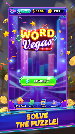 Word Vegas - Free Puzzle Game to Big Win apkpoly screenshots 1