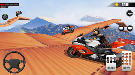 Impossible Mega Ramp Moto Bike Rider Stunts Racing  screenshots 5