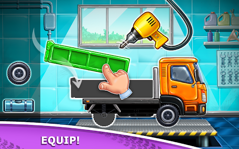 Truck games for kids – build a house, car wash 1
