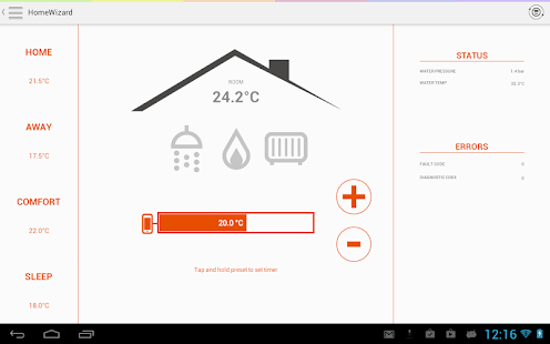 HomeWizard Screenshot