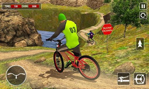 BMX Offroad Bicycle rider Superhero stunts racing screenshots 1