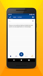 Write SMS by voice 1