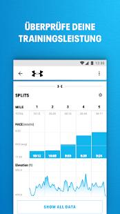 Laufen mit MapMyRun Screenshot