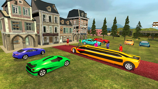 Uphill Limo Taxi Car Driving :Offroad Limo 3D Game 1.0 screenshots 1
