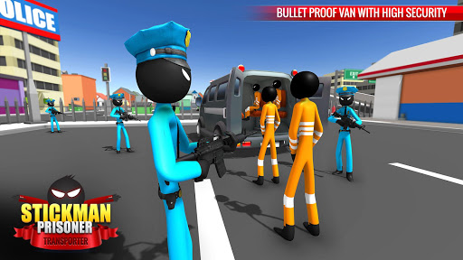 US Police Stickman Criminal Plane Transporter Game 4.7 screenshots 7