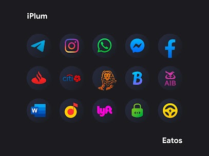 iPear Black APK- Round Icon Pack (PAID) Download 9