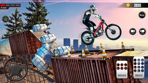 Impossible Mega Ramp Moto Bike Rider Stunts Racing  screenshots 6