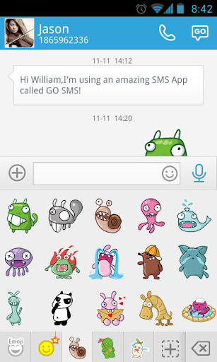 GO SMS Pro BuckTooth Sticker For PC Windows (7, 8, 10, 10X) & Mac Computer Image Number- 8