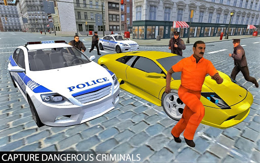 Drive Police Car Gangsters Chase : Free Games  screenshots 1