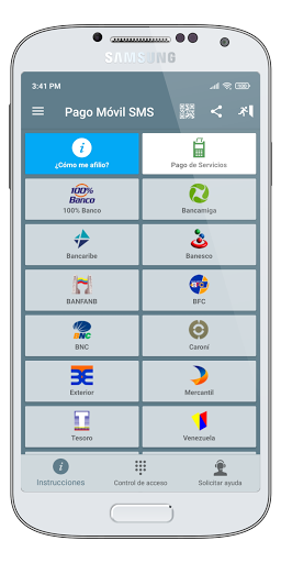 Pago Móvil SMS  screenshots 1