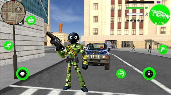 Army US Stickman Rope Hero Gangster OffRoad Hack Game Android & iOS 4