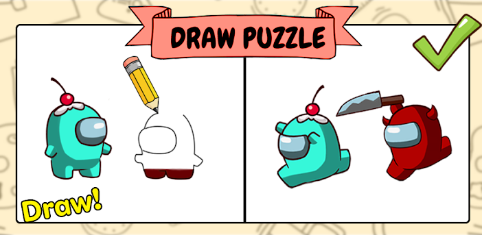 Draw Puzzle - Draw one part