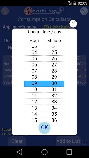 Screenshot 21 de EvoEnergy - Electricity Cost Calculator Free para android