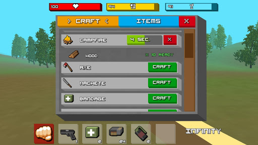 Zombie Craft Survival 3D: Free Shooting Game apkpoly screenshots 12