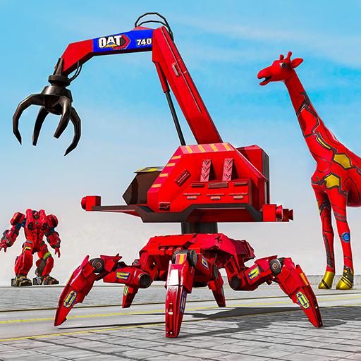Spider crane robot car game - mga laro ng giraffe