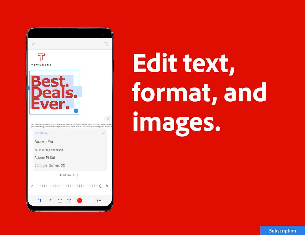 Adobe Acrobat Reader: PDF Viewer, Editor & Creator  poster 5