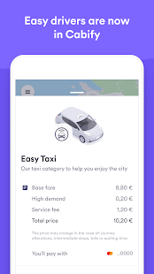 Easy Taxi, a Cabify app Screenshot