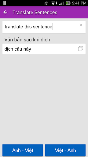 Dich tieng Anh - Tu dien Anh Viet TFlat 7.6.0 Screenshots 4