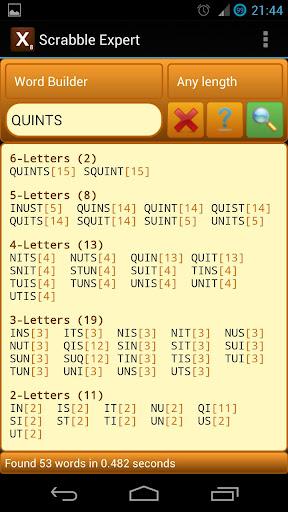 Word Expert (for SCRABBLE) 4.4 Screenshots 1