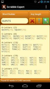 Word Expert (for SCRABBLE) 4.8.2 screenshots 1