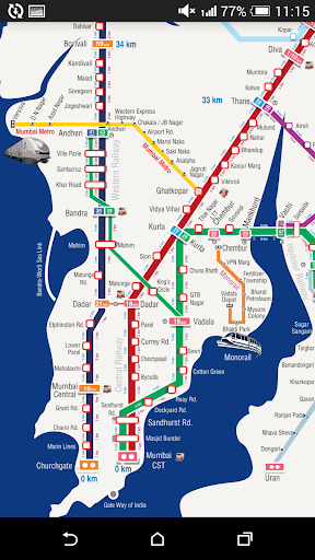 m-Indicator- Mumbai - Live Train Position 17.0.189 Screenshots 8