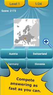 Countries Location Maps Quiz 2