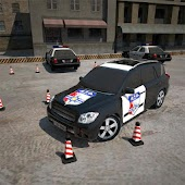 icono 3D police car parking