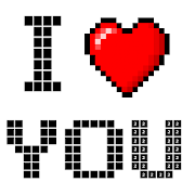 Valentines Love Color By Number-Pixel Art Coloring
