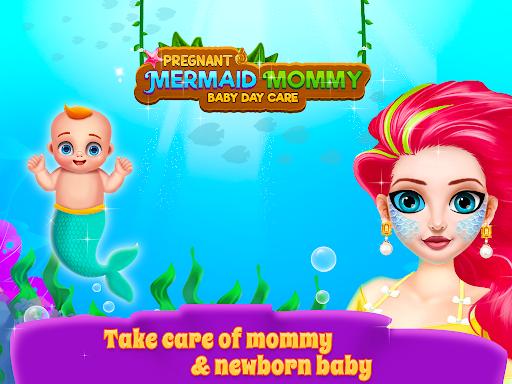 Mermaid Mom & Newborn - Babysitter Game https screenshots 1