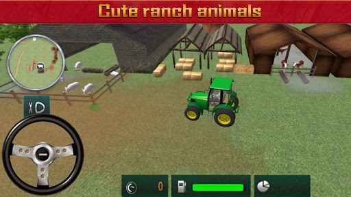 Farmeru00a0Harvestu00a0Simulatoru00a03Du00a0-u00a0Tractoru00a0Hauling  screenshots 3