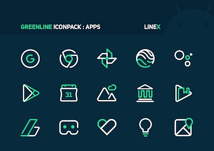 GreenLine Icon Pack APK Download for Android 3